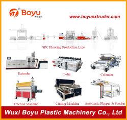 돌 플라스틱 합성물 Spc Vinly 지면/마루 밀어남 생산 라인/기계장치/기계/압출기/압출기/기계