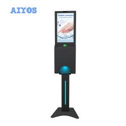 """[특허] Aiyos 최신 21.5 """" 인체 온도 검출기에 자동적인 비누 손 소독제 분배기 간이 건축물"""