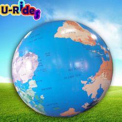 إعلانات خارجية كرة أرضية عملاقة قابلة للنفخ مع خريطة أرض واضحة