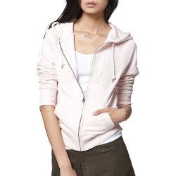 Guangdong-Fabrik-preiswertes Preis-Form-Frauen-BaumwolleHoodie Sweatshirt-weibliches Umhüllungen-Strickjacke-Hemd Jersey