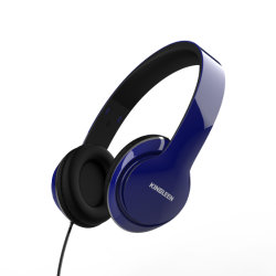 Kingleen i3 Blue 3.5 ميليمتر قابس سماعة رأس سلكية عميق Bass HiFi سماعة رأس صوت عالية الدقة متوافقة مع الكمبيوتر المحمول/الهاتف المحمول/MP3/MP4