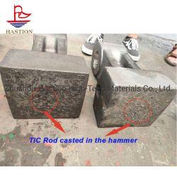 O carboneto de titânio utilizado para inserir a placa de Dente de britadores de martelo