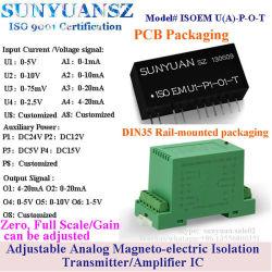 PLC, aquisizione 0-10V di isolamento del segnale di analogico del campo del DCS al trasmettitore del modulo isolato 0-20mA 4-20mA e ricevente