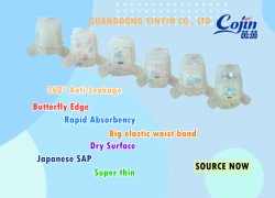 Cojin Yinyin Multi Feature Super Dry Thin Core ademend goed Kwaliteit Goedkope Groothandel Baby Volwassen Disposable Elastic Waist Band Diaper