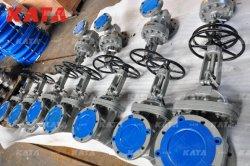 API600 6 بوصة نظام تشغيل BB&Y RF150lb 300 lb A216 مقاس 8 بوصات GR WCB CF8m Trim 5 Wedge Gate Worm Wheel Risge صمام بوابة الساق