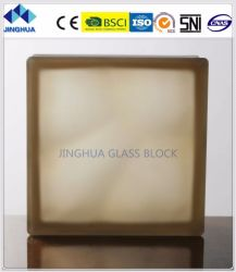 Jinghua Misty nuageux Brown 190x190x80mm/bloc de brique de verre