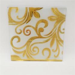 L'art en verre jaune doré 3,8 mm ; les plaques murales