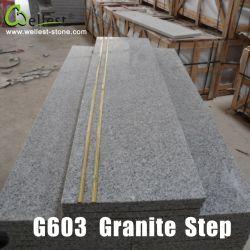 G603 روزا الصينية غراي غرانيت الدرج/السلالم/السروال مع المعدن المضاد للانزلاق