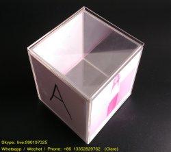 10x10x10cm carré acrylique claire Boîte d'affichage photo image Boîte cube