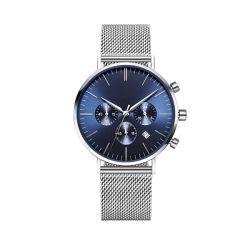 중국 공급자 316L 스테인리스 메시 악대 남자 크로노그래프 손목 시계