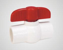 Clapet à bille de PVC en plastique compact avec la prise ou l'extrémité du filetage (V01A)
