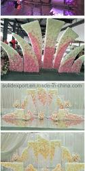 Rainbow Accessoires de décoration de mariage de fleurs de soie pour mariage étape Contexte