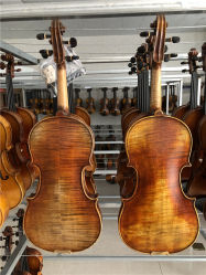 ドイツバイオリン4/4の大型のバイオリン、マスターの止め枠