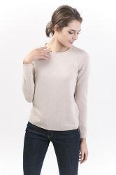 Les femmes de la laine de cachemire Crew-Neck classique Pull Pull