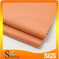 55% coton 42 % 2% spandex en nylon sergé tissu de peau de pêche