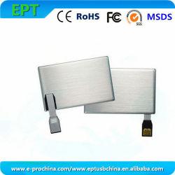 Logo Metal Business Memory Card USB Flash Drive (ET800) aanpassen