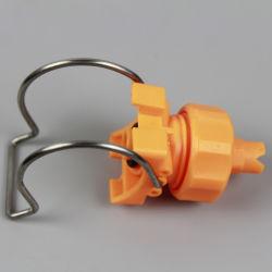 플라스틱 신속 분리 세척 클램프 물 분무 노즐