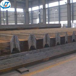 Le rideau de palplanches en acier laminés à chaud pour le remblai, Dock, des murs de soutènement
