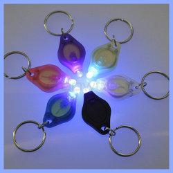 Llavero mini LED 365nm 395nm invisible de luz UV negro púrpura linterna llavero Logo luces Flash