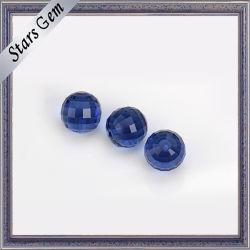 Темно-синий Checker вырезать хрустальное стекло гранулы драгоценных камней