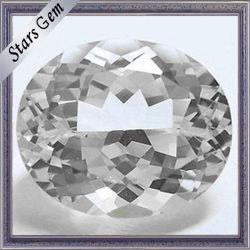 Oval Corte Natural excelente para la joyería Topacio Blanco Natural