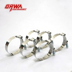 """Grwaパフォーマンス2 """" -フランジキットが付いている5つの""""ステンレス鋼Vの帯鉤"""