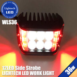 Lighttech Offroad 36W 4inch Side LED Strobe Work Light Amber Red Blue White Knipperende LED Pods voor 12V Cars Jeeps Trucks