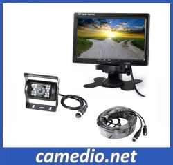 """트럭/버스/카라반/밴/굴삭기/RV - 트레일러 후진 백업 카메라 + 7"""" LCD 모니터 후진 주차 시스템"""