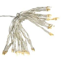 電池式の静的なかフラッシュ暖かい白LEDストリングライト