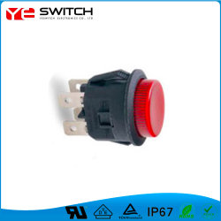 Красный цвет индикатора кнопочный выключатель с UL сертификатов