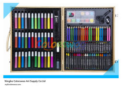 130PCS Drawing Art Set in Wooden Box für Kids und Students