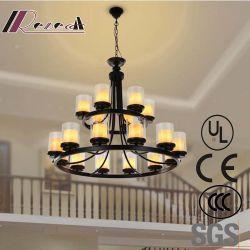 Lamp van de Tegenhanger van de Kroonluchters van de Kandelabers van het Glas van het hotel de Decoratieve Europese Duidelijke