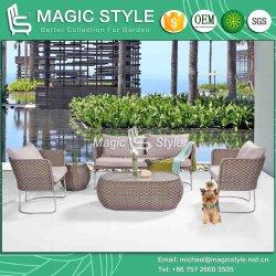 ステンレス鋼のソファーのセットされる一定のテラスの藤のソファーの柳細工のソファーの屋外の家具の現代ソファー(魔法様式)