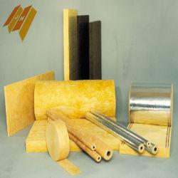 Varios tamaños de lana de vidrio de aislamiento del tubo de fibra de vidrio