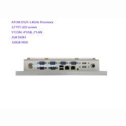 Ordinateur industriel sans ventilateur de panneau Plein-Scellé par écran tactile de 12 pouces avec l'atome D525