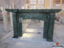 Verde indien Alpi Marble Indoor Fireplace pour Home Decoration