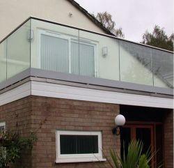 Armazón de aluminio Piscina valla de vidrio de vidrio de 8mm barandilla barandilla de cristal del balcón