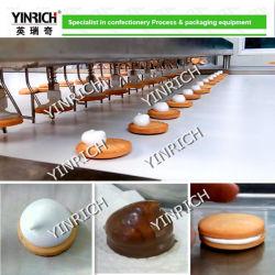 Máquina de hacer pastel de chocolate Macarons Sandwiching Chocolate-Coated maquinaria de la máquina de Malvavisco de depositar en la galleta (JXJ1000) con Ce ISO9001