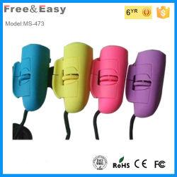 Bom olhar brilhante Dedo Óptico 3D coloridos de mouse com fio