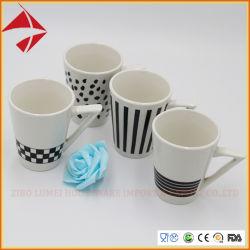 V形のコーヒー・マグの漏斗の陶磁器のマグまたはコーヒー・マグ4PCSの磁器のコーヒー・マグセット