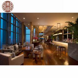 De Houten Barkruk van het Restaurant van het hotel met het Dineren van het Leer en van de Stof van Pu Stoelen