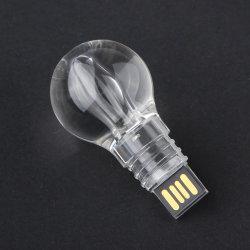 LEDライトが付いているカスタマイズされたロゴ8GBのメモリ棒の親指駆動機構の球根の形USBのフラッシュ駆動機構