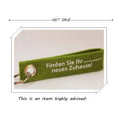 Real Wool promozione personalizzata Accessori regalo Moda portachiavi (FM037)