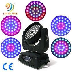 36pcs 4en1 super luminosité LED RGBW déplacement de phase de la lumière de zoom