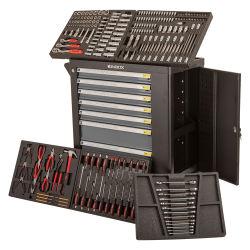 Kinbox車輪が付いている7つの引出しのツールキャビネットボックスが付いている232のPCS手のツール