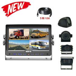 7 de Bus van de duim/Systeem van de Mening van de Vrachtwagen het Achter met de Monitor van de Vierling en de Camera van de Auto