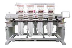4つのヘッドによってコンピュータ化される高速帽子のTシャツの平らな刺繍機械