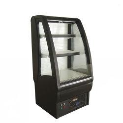 Handelsbier-Bildschirmanzeige-geöffneter Kühlvorrichtung-Molkereimilch-Bildschirmanzeige-Schaukasten-Kühlraum-Käse-Kühlraum