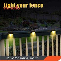 Nouveau design Portable Mini LED solaire de plein air en plastique Jardin de clôture de la gouttière Éclairage de marchepied