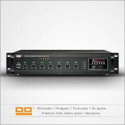 Nueva llegada 70-100V de 380 vatios Sistema de megafonía con USB/Bluetooth portátil PA Amplificadores de difusión